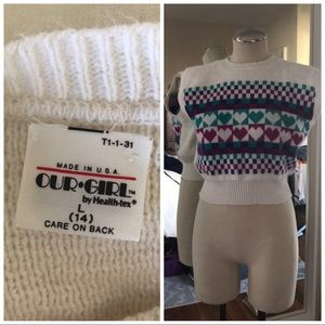 Cropped sleeveless sweater